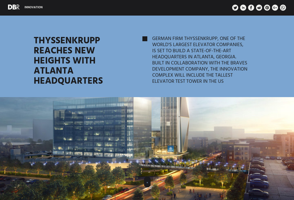 Thyssenkrupp reaches new heights with Atlanta headquarters