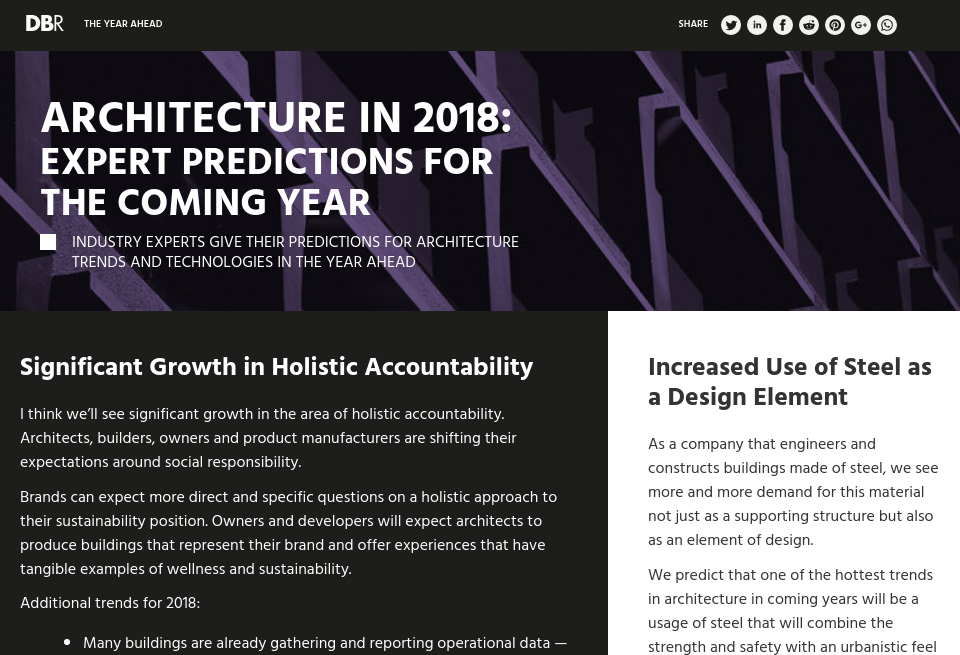 Architecture in 2018: Expert Predictions for the Coming Year