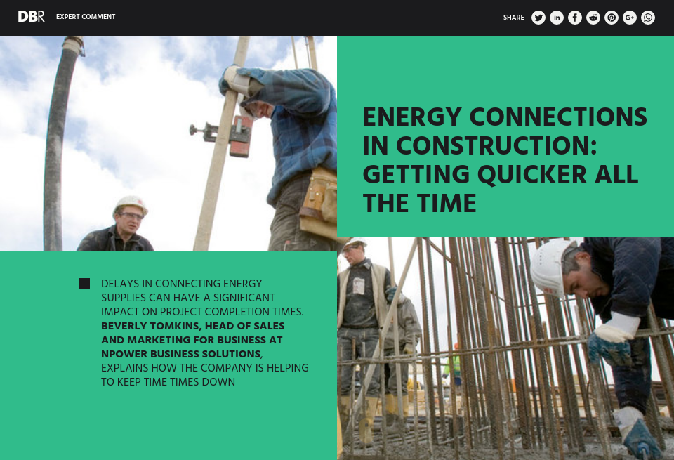 Energy Connections in Construction: Getting Quicker All The